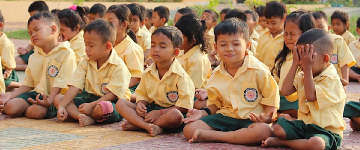Xavier Jesuit School Children Practice Mindfulness Meditation Jesuit Asia Pacific Conference